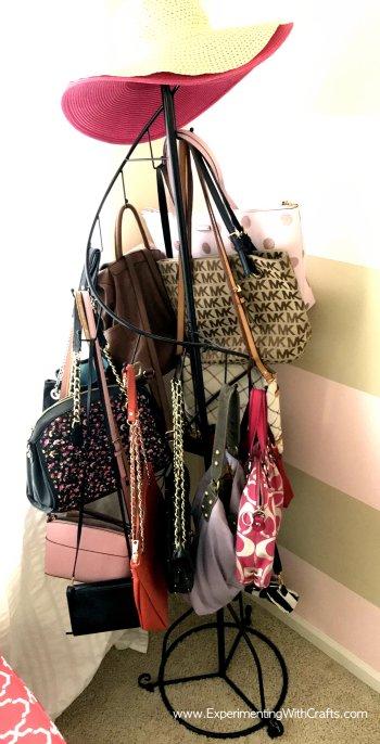 purse rack